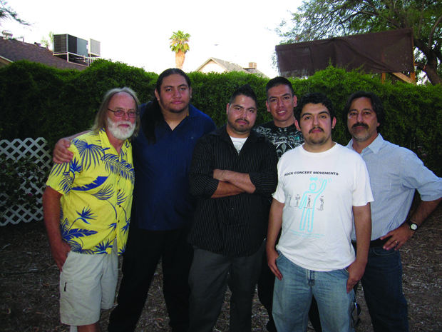 "Members of the ""Spare Parts"" team. From left to right: Allan Cameron, Luis Aranda, Lorenzo Santillan, Oscar Vazquez, Cristian Arcega and Fredi Lajvardi."