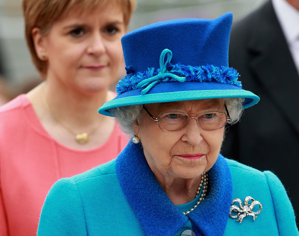 Queen Elizabeth II and First Minister of Scotland Nicola Sturgeon at the opening of the Borders Railway at Tweedbank Station in Tweedbank, Scotland.
