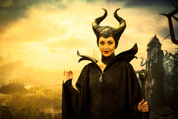 Maleficent at Disney Social Media Moms Celebration.