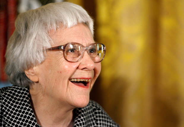 "Pulitzer Prize winner and ""To Kill A Mockingbird"" author Harper Lee smiles before receiving the 2007 Presidential Medal of Freedom in the East Room of the White House November 5, 2007 in Washington, D.C."