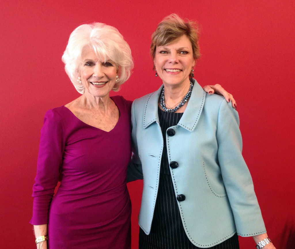 Cokie Roberts and Diane pose after their April 15 interview.