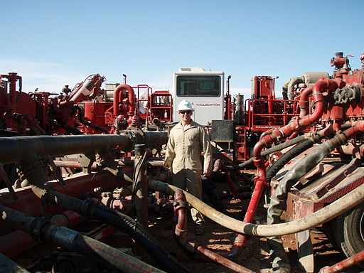 A 2011 fracking site run by Halliburton.