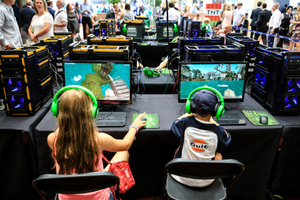 Children compete in a Minecraft tournament in Ascot, England in 2014.