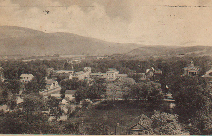 A postcard showing Romney, West Virginia in the early 20th Century.