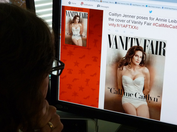 A journalist looks at Vanity Fair's Tweet about Caitlyn Jenner, who  is featured on the July cover of the magazine.