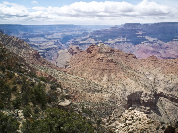 The Grand Canyon in Arizona seen from the Desert View observation point on May 11, 2014.