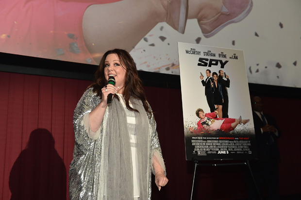 """Actress Melissa McCarthy introduces a special """"Spy"""" screening at Regal Atlantic Station on March 30, 2015 in Atlanta, Georgia."""