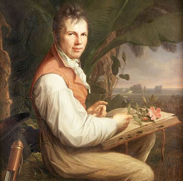 Alexander von Humboldt is shown in an 1806 portrait.