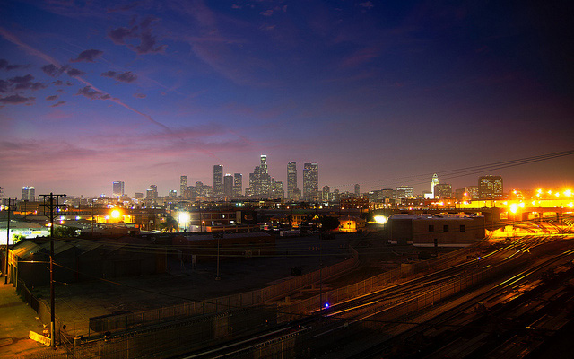 The Los Angeles skyline.