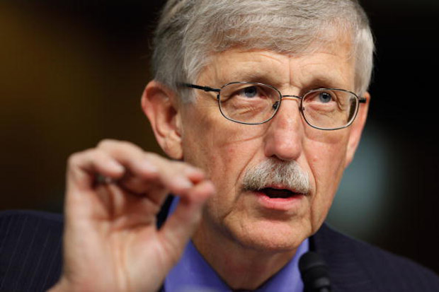 This file photo shows National Institutes of Health Director Francis Collins testifying before the Senate Appropriations Committee's Labor, HHS, Education and Related Agencies Subcommittee  in Washington, D.C.