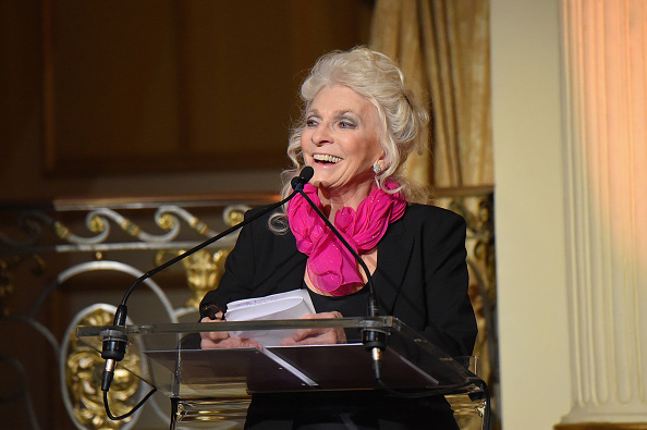 Singer Judy Collins speaks onstage at the 5th Annual Elly Awards hosted June 22 by the Women's Forum of New York in New York City.