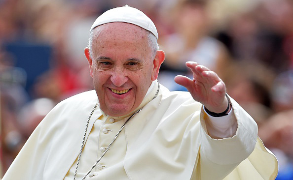 Pope Francis waves to faithful upon his arrival Sept. 16 on St. Peter's square at the Vatican. His first trip to the U.S. is scheduled for this week.