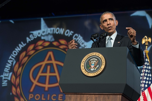 Obama speaks Tuesday at the International Association of Chiefs of Police Annual Conference and Exposition in Chicago.
