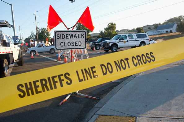 Crime scene tape limits access Oct. 2 to Umpqua Community College in Roseburg, Oregon.