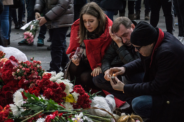 People at mourn Nov. 1 at St. Petersburg's Pulkovo Airport for the victims of the Russian airliner crash in Egypt's Sinai desert.