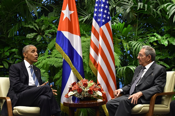 U.S. President Barack Obama and his Cuban counterpart Raul Castro meet March 21 in Havana's Palace of the Revolution for groundbreaking talks on ending the standoff between the two neighbors. Obama, meeting Castro for only the third time for formal talks, was the first U.S. president in Cuba since 1928.
