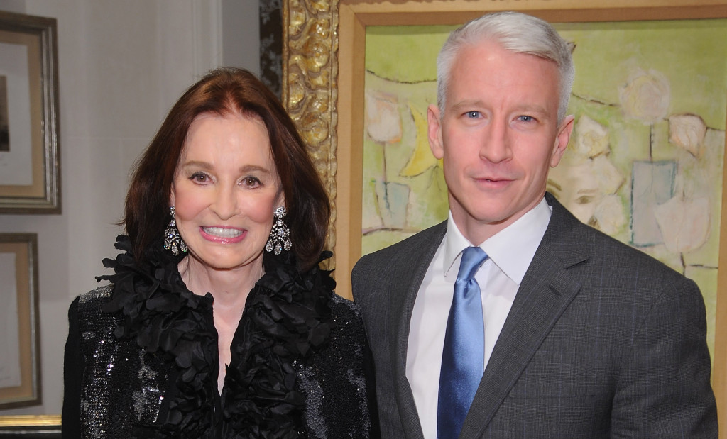Gloria Vanderbilt and her son Anderson Cooper in New York City in 2010.