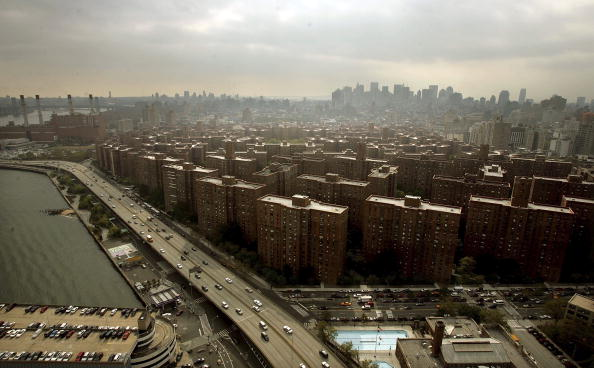 The Peter Cooper Village and Stuyvesant Town apartment complex is seen on October 19, 2006 in New York City.