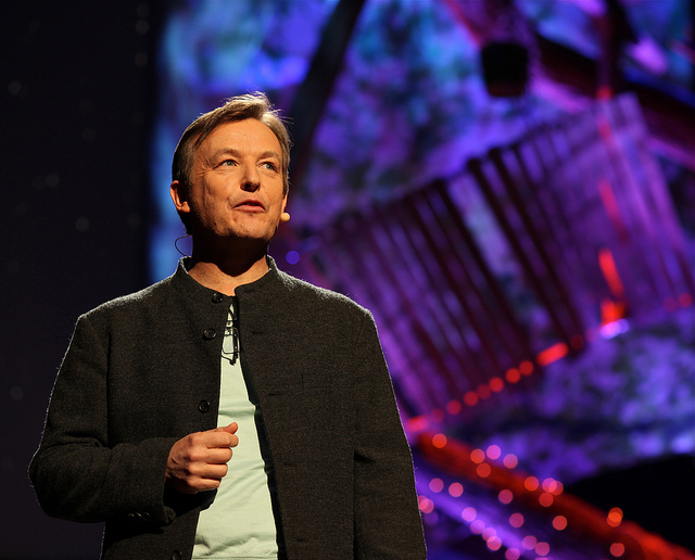 Chris Anderson, curator of TED, speaks at the TED conference in 2013.