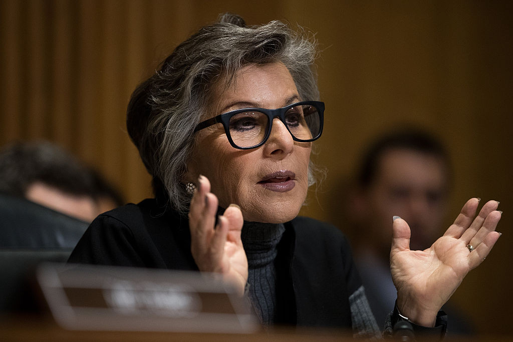 Committee ranking member Sen. Barbara Boxer (D-Calif.) questions witnesses May 26 during a Senate Foreign Relations Committee hearing on Capitol Hill.