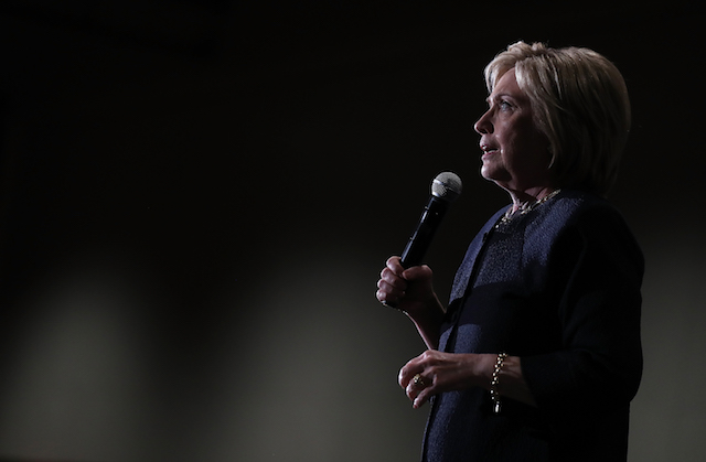 Democratic presidential candidate and former Secretary of State Hillary Clinton speaks during a campaign event May 26 at Parkside Hall  in San Jose, California.