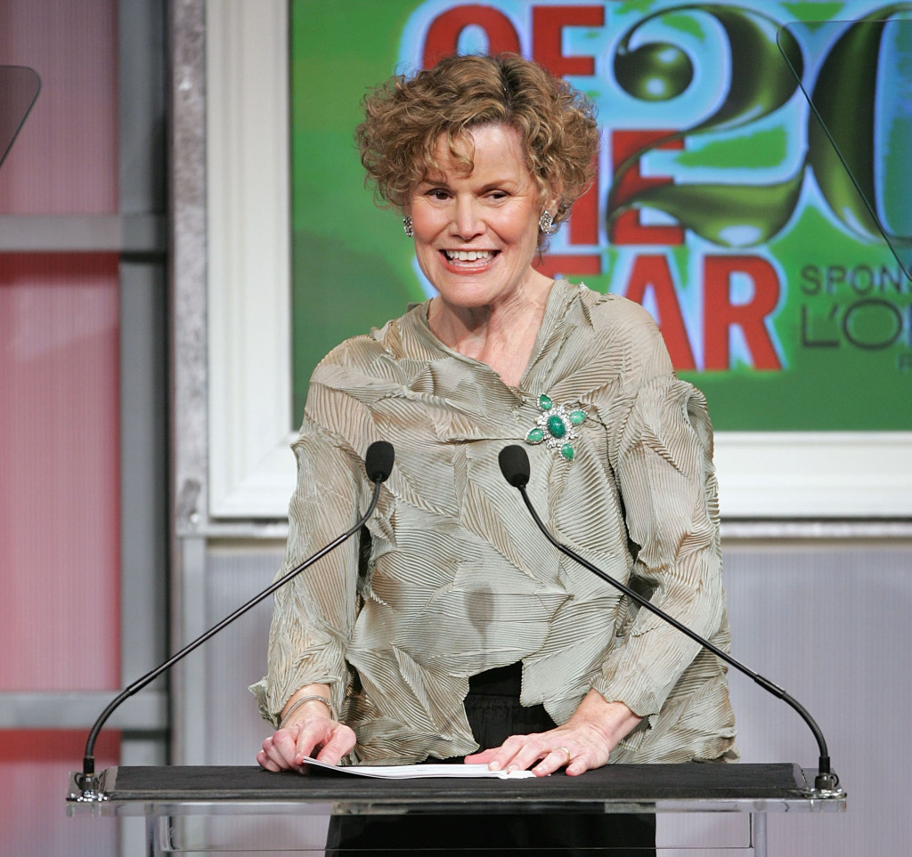 """Author Judy Blume accepts her award during the 15th Annual Glamour Magazine """"Women of the Year"""" awards at the American Museum of Natural History."""