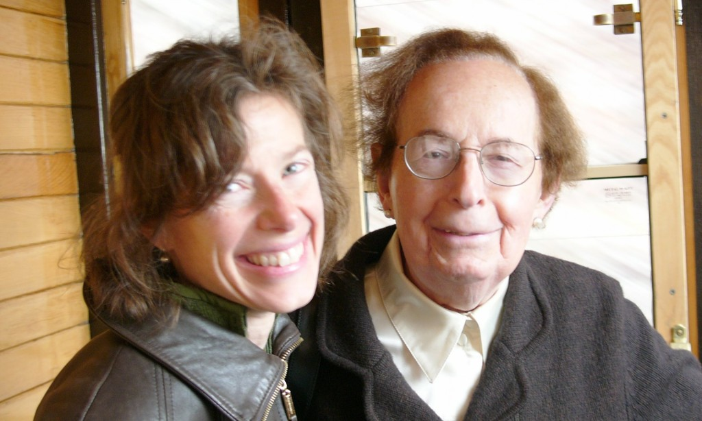 Journalist Susan Faludi with her father in Budapest in 2010.