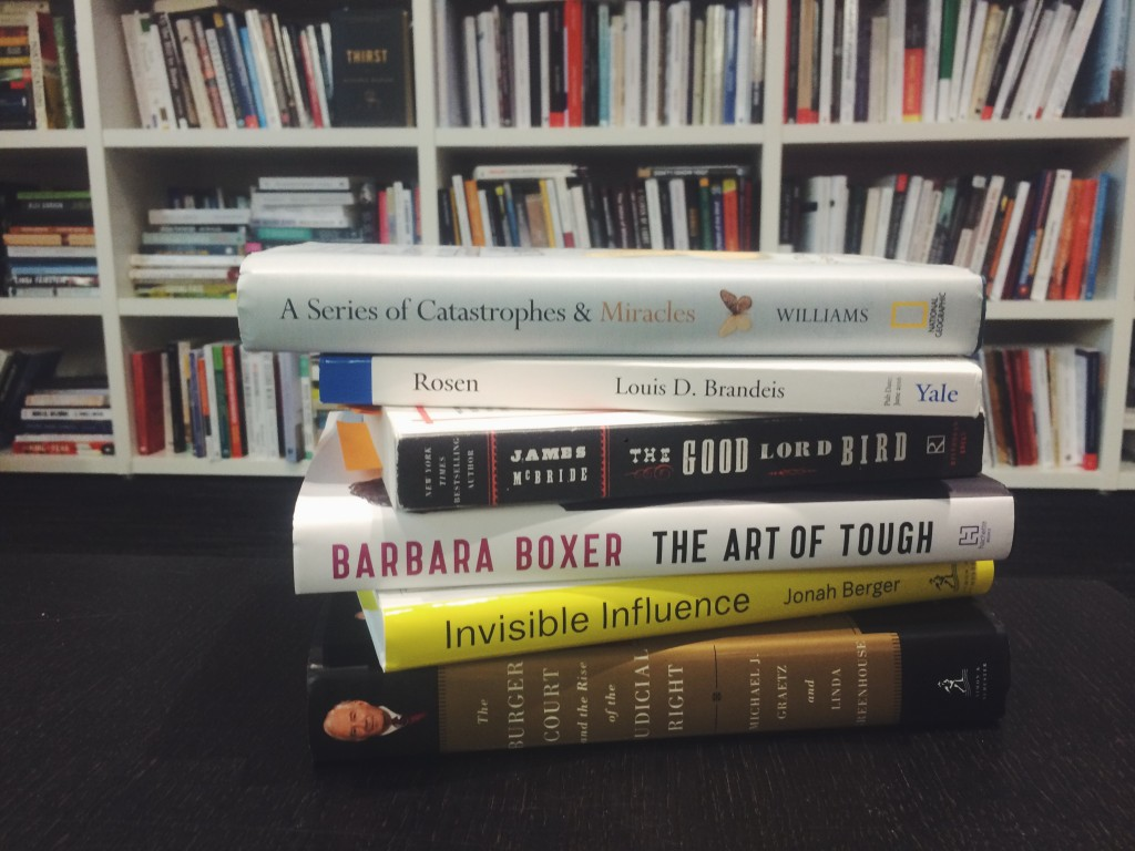 A selection of the books we'll be talking about in June.