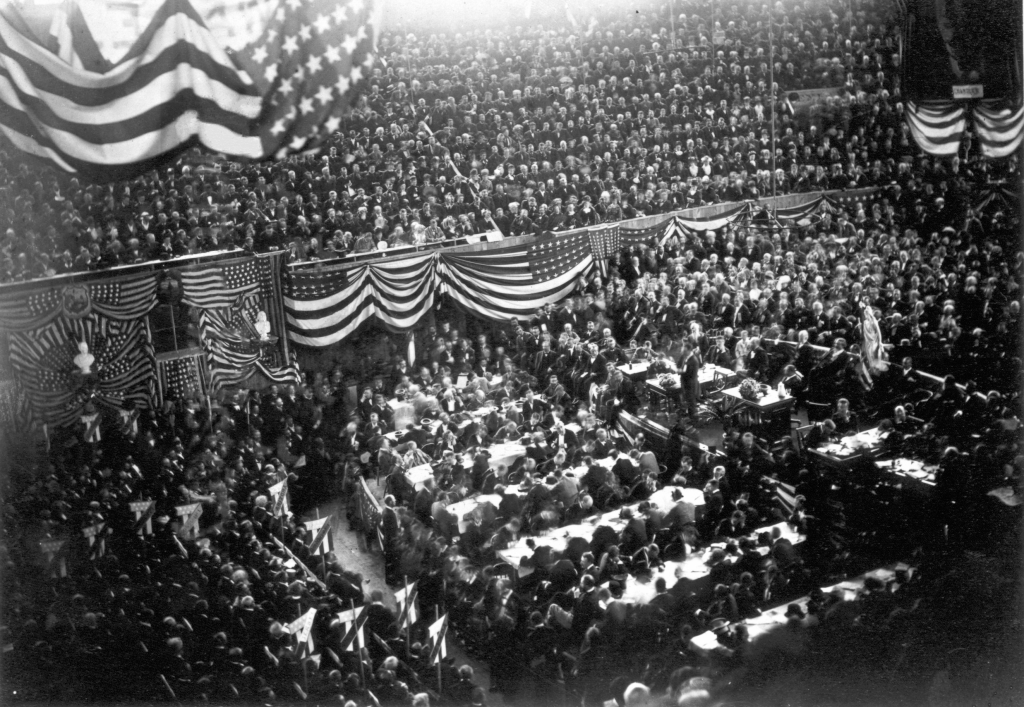 The view inside the 1880 Republican National Convention.