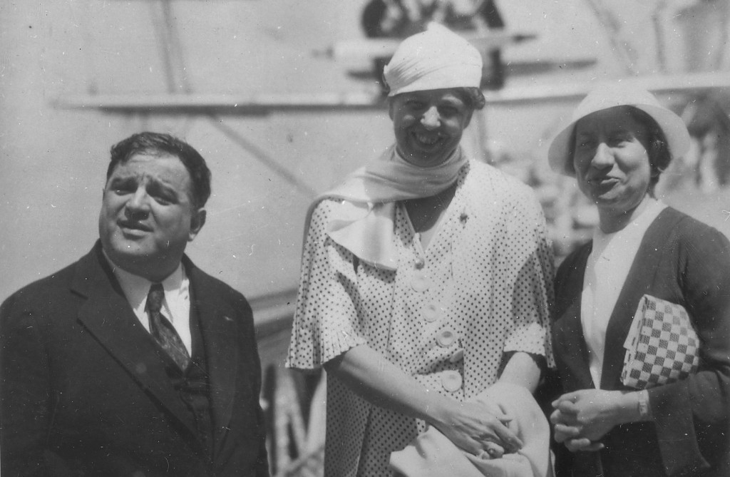 Fiorello Laguardia, Eleanor Roosevelt and Marie LaGuardia in New York City in 1934.