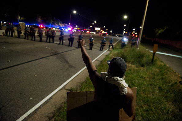 Protestors shut down Highway I-94 on July 9 in St. Paul, Minnesota.