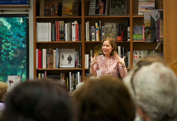 Author Ann Patchett speaks at a bookstore in Washington, DC.