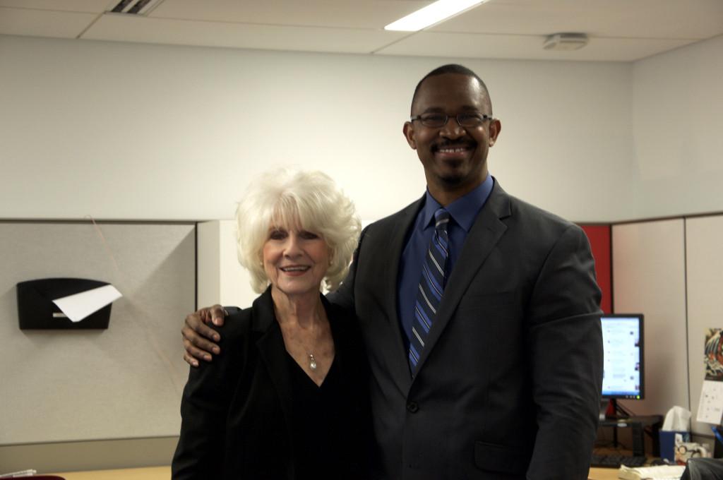 Diane Rehm and Joshua Johnson, the host of The Diane Rehm Show's successor program, 1A.