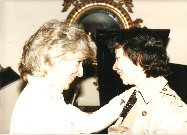 Diane Rehm and the Right Reverand Jane Holmes Dixon in 1989.