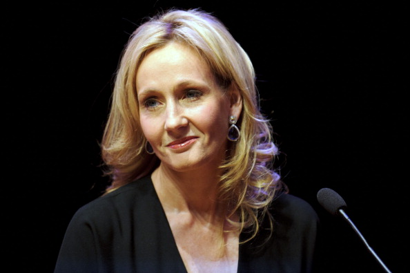 Author J.K. Rowling at the Queen Elizabeth Hall on September 27, 2012 in London, England.