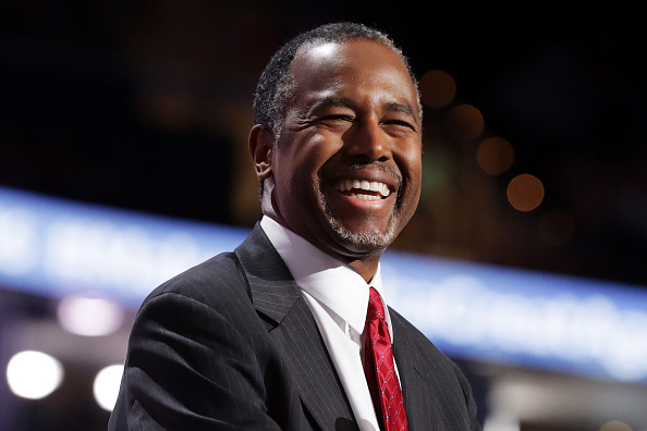 Ben Carson speaks July 19, 2016 on the second day of the Republican National Convention in Cleveland, Ohio.