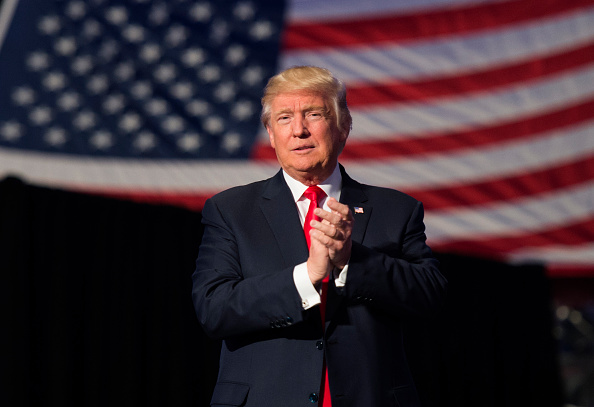 President-elect Donald Trump arrives Dec. 15 to speak at a USA Thank You Tour 2016 at the Giant Center  in Hershey, Pennsylvania.
