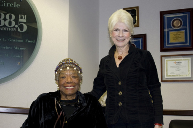 Diane and Maya Angelou.