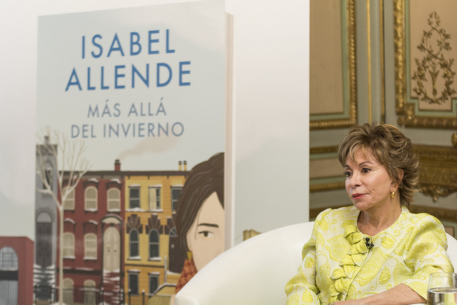 """Earlier this year author Isabel Allende discussed her new novel, """"In the Midst of Winter,"""" in Madrid, Spain.  She writes all her books in her native Spanish. They are then translated into numerous languages  read around the world."""