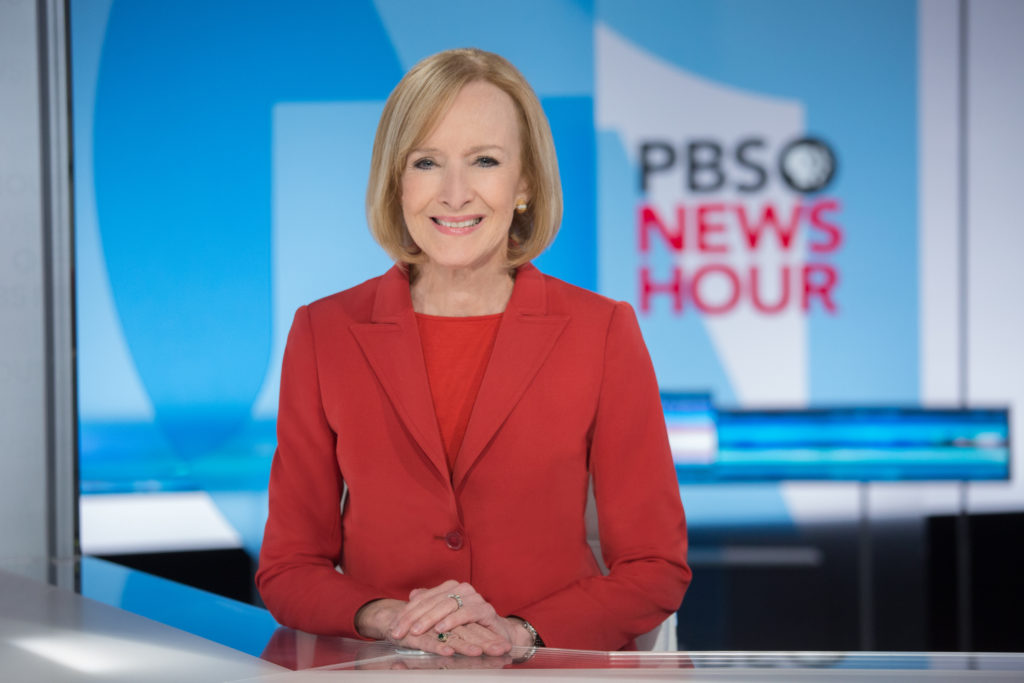 Judy Woodruff was named sole anchor of the PBS NewsHour in March.