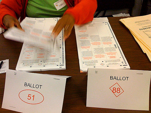 Ballots in Florida in the 2008 election. In this year's midterms, recounts were held in the state's U.S. Senate race and Governor's contest