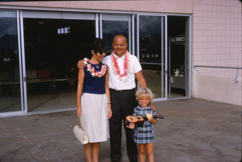 Author Dani Shapiro with her mother and father in Hawaii in 1966.