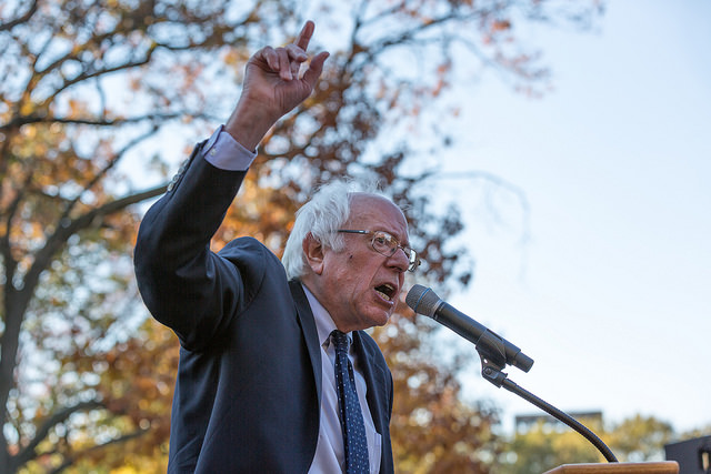 Vermont Senator Bernie Sanders at a rally in Washington, DC on November 17, 2016. Sanders announced this week that he's running for president in 2020.