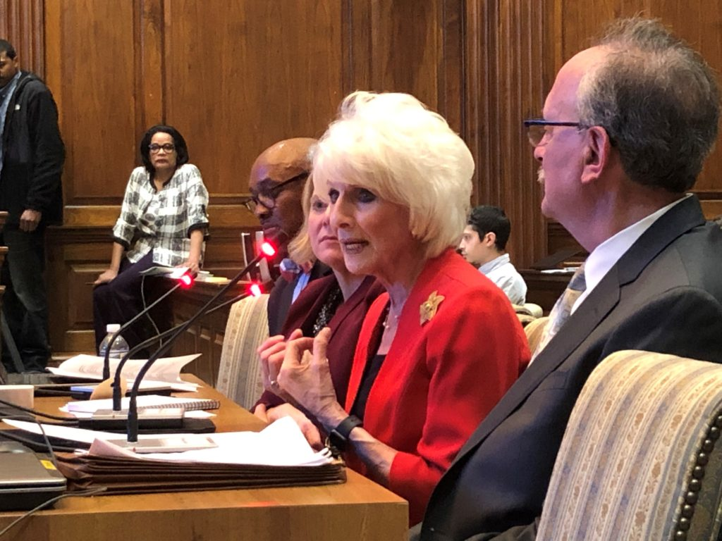 Diane Rehm testifies in the Maryland state house in support of a bill that would allow the terminally ill to end their lives with the help of a doctor.