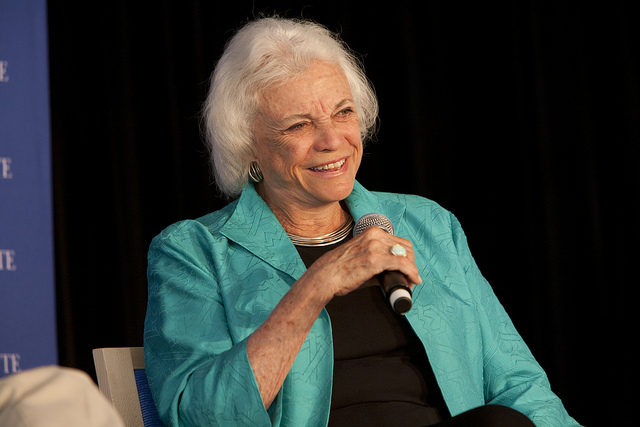 Justice Sandra Day O'Connor in 2010 at an event hosted by the Aspen Institute.