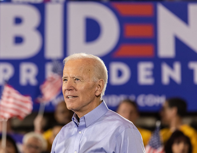 Joe Biden speaks to the crowd at his rally for president in Pittsburgh on April 29, 2019.