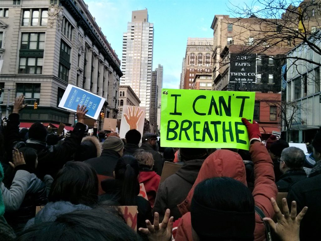 """I Can't Breathe"" became a rallying cry for the Black Lives Matter movement after a police officer's chokehold led to the death of Eric Garner in July 2014. This week the NYPD fired the officer responsible for Garner's death."