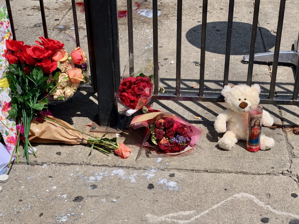 A memorial in Dayton, Ohio, to honor the victims of Sunday's mass shooting that killed 9 and injured 27.