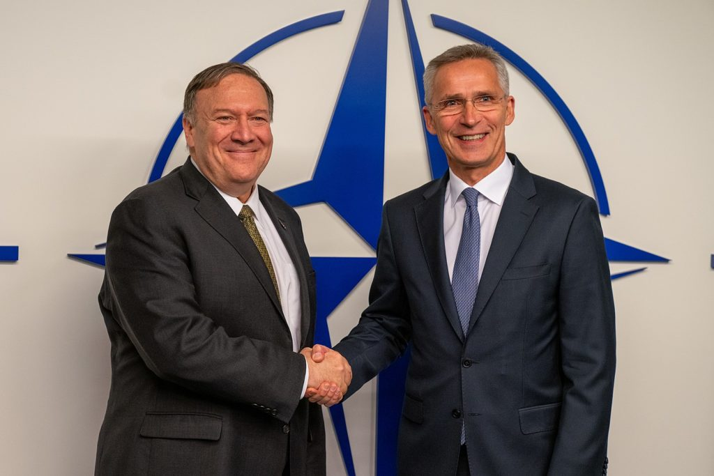 U.S. Secretary of State Mike Pompeo meets with NATO Secretary General Jens Stoltenberg, in Brussels, Belgium, October 18, 2019. Pompeo has been accused of marginalizing career diplomats in favor of political appointees.