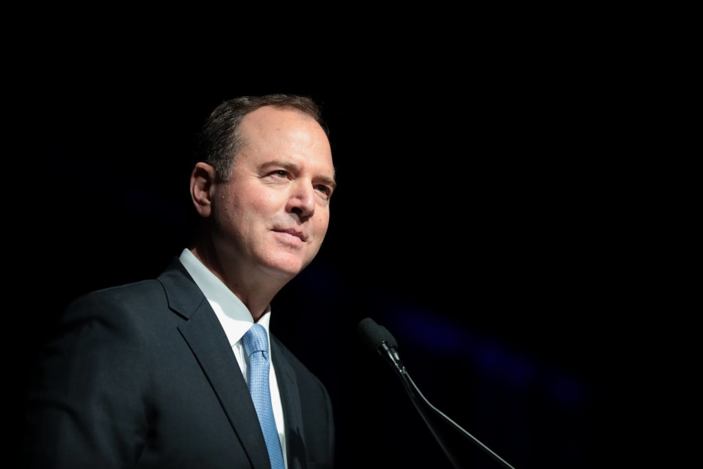 U.S. Congressman Adam Schiff speaking at the 2019 California Democratic Party State Convention in June. Schiff has become the public face of the impeachment investigation for the Democrats.